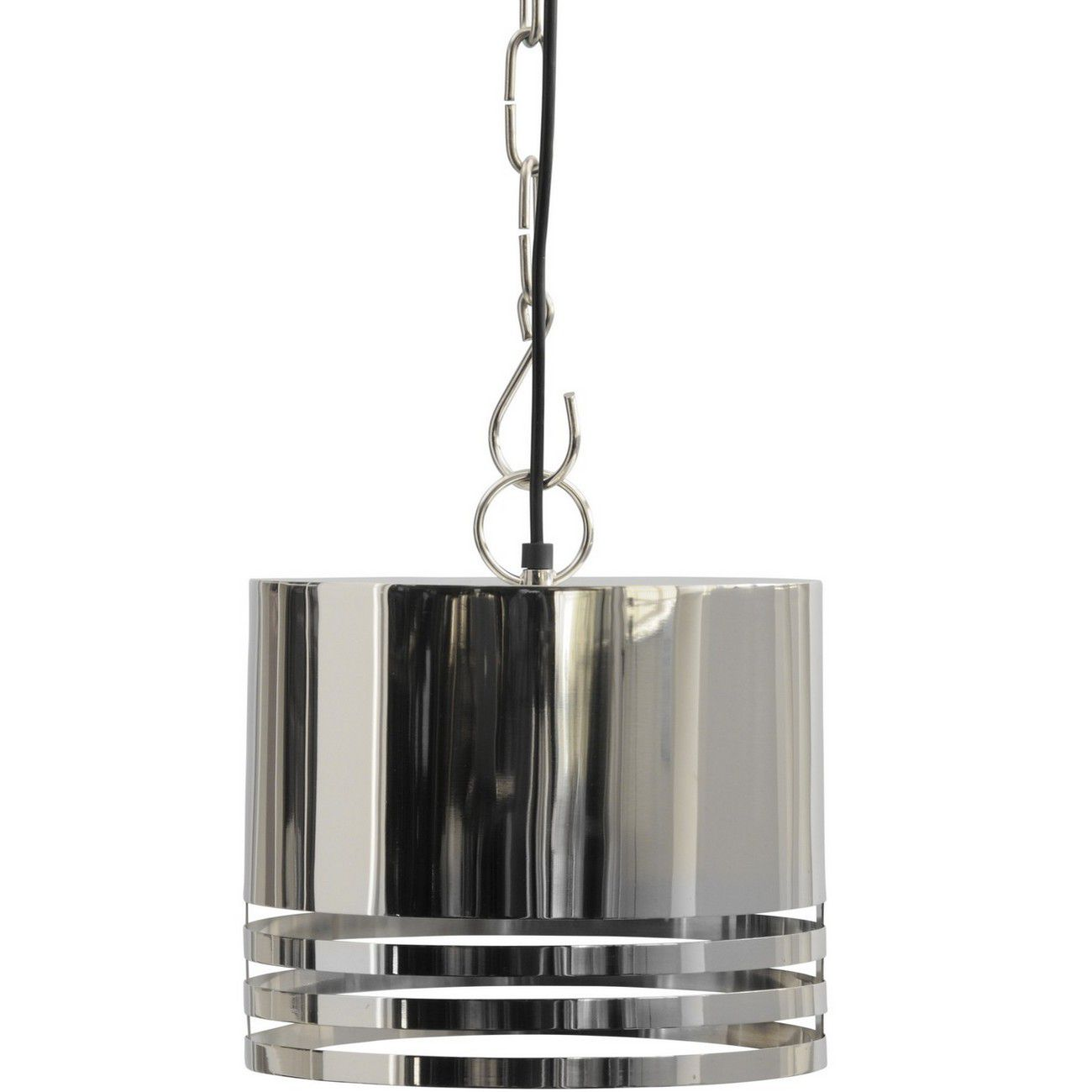Destino Duo Silver Oval Shade Hanging Lamp thumbnail