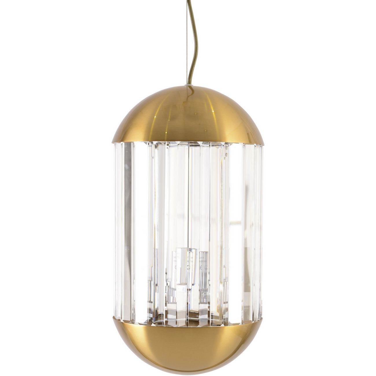 Neptune Small Clear Glass Pendant Light thumbnail