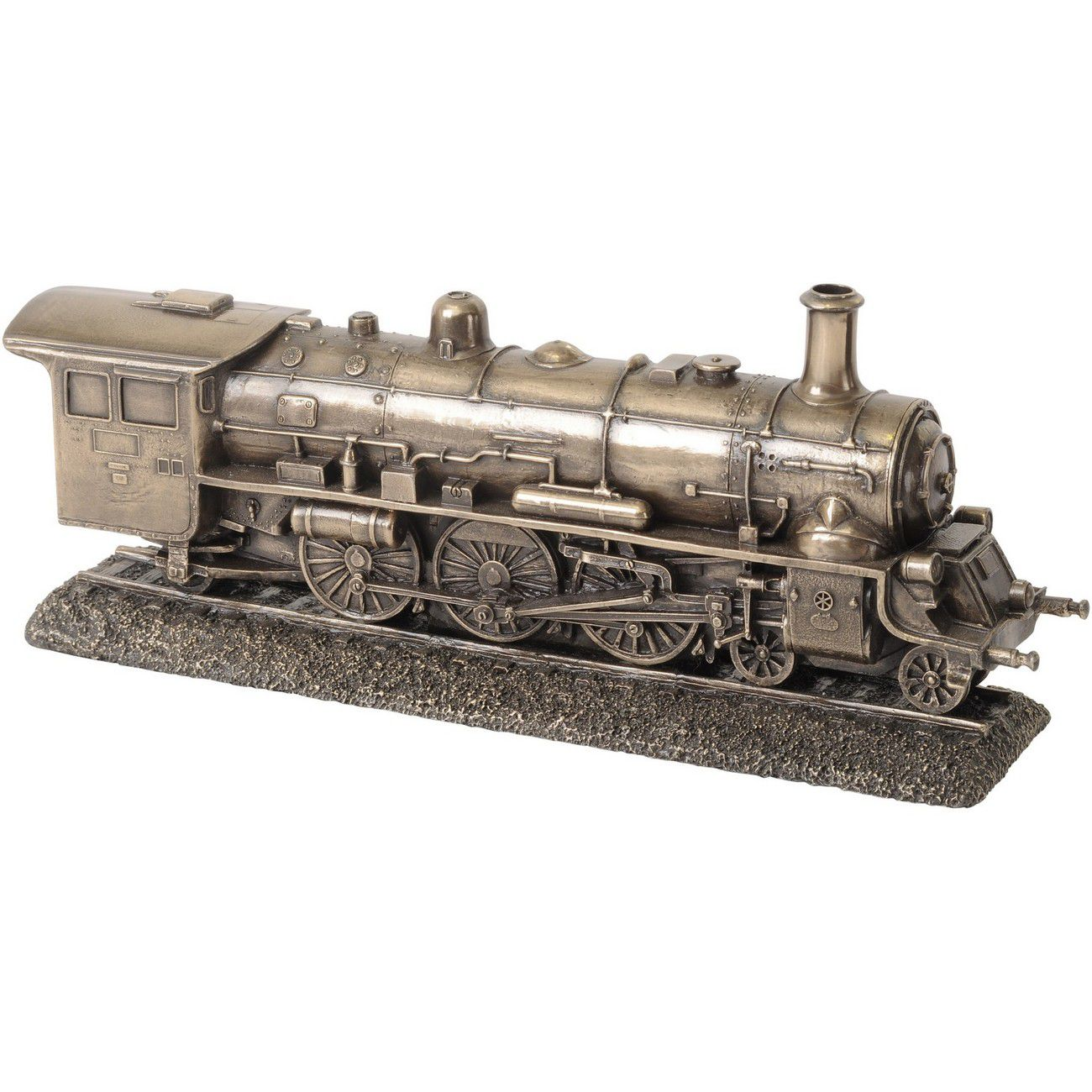 Millbeck Bronze Finish Steam Train Sculpture thumbnail