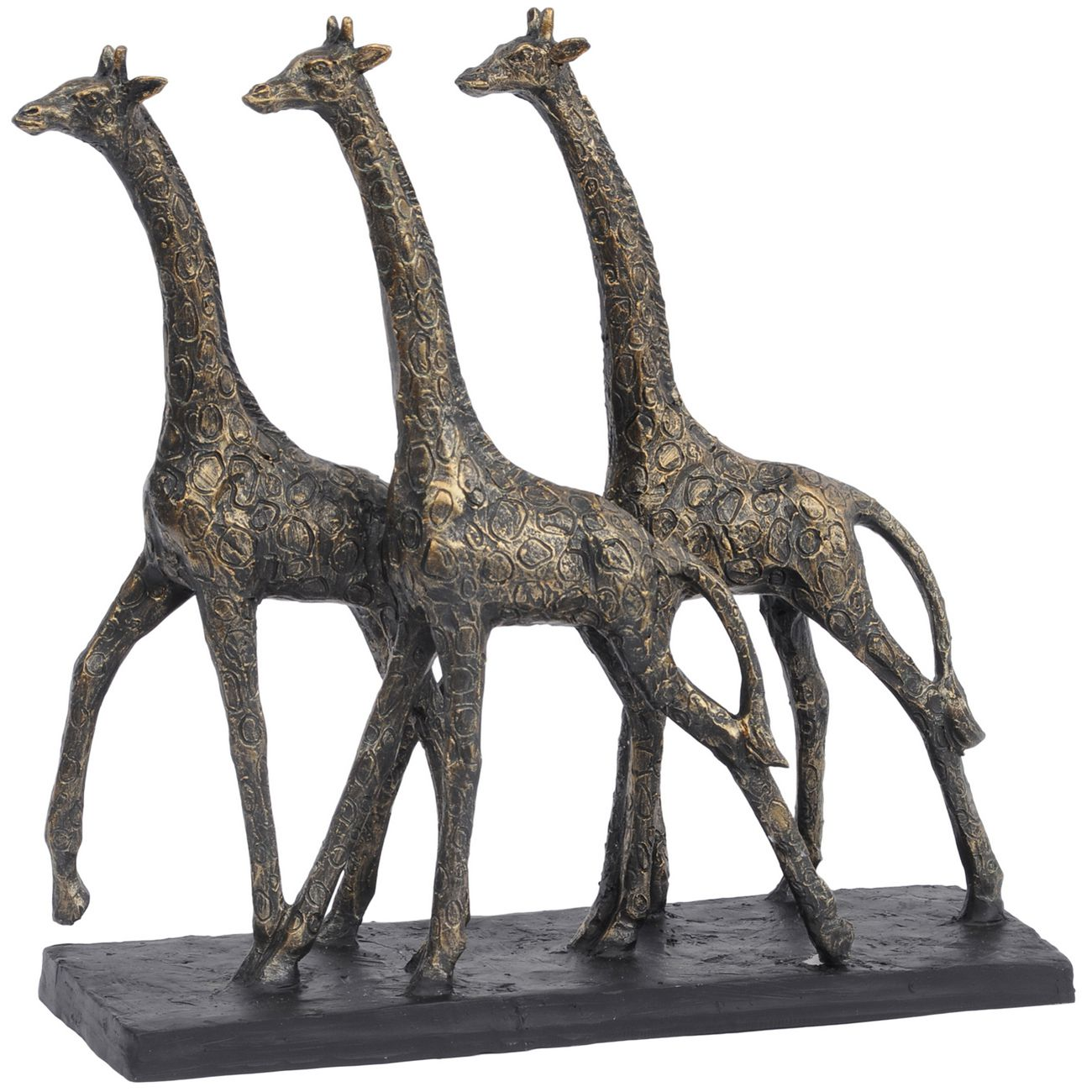 Antique Bronze Group Of Giraffes Sculpture thumbnail