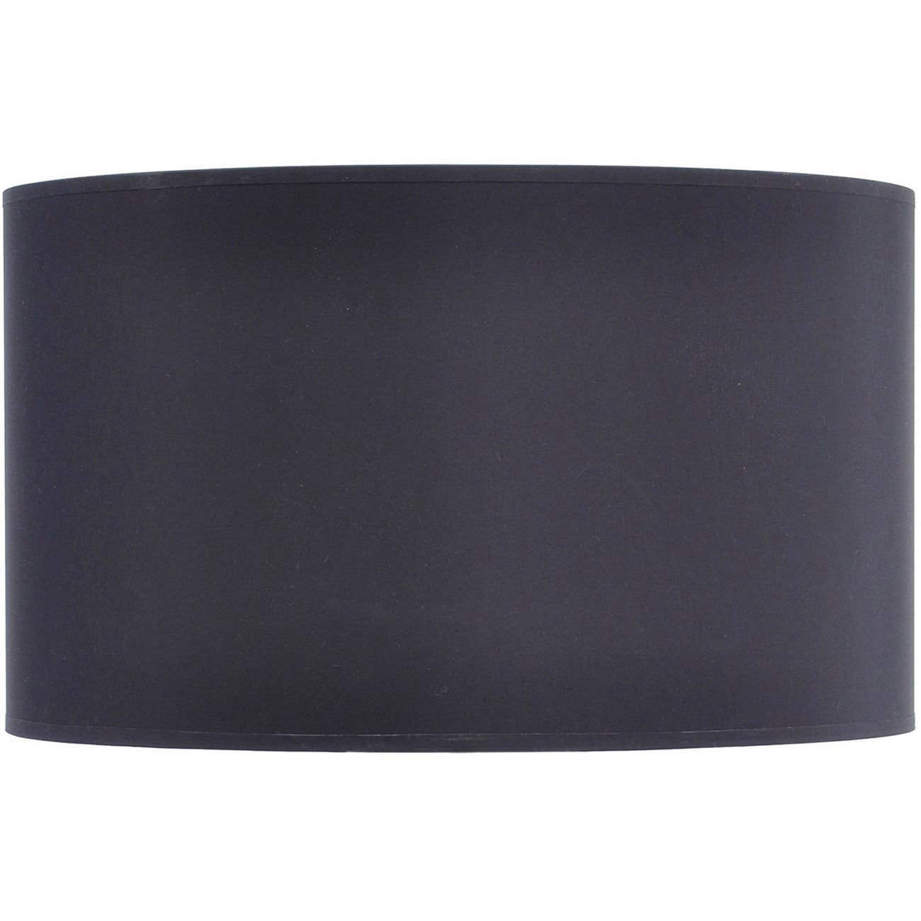 Black and Silver Lined Drum Lampshade (20