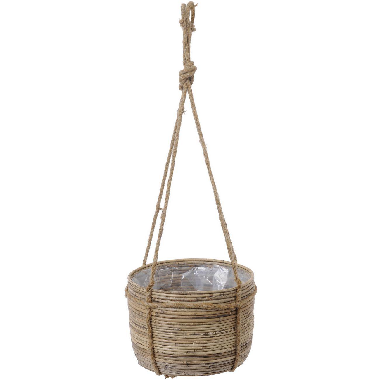 Toba Rattan Hanging Rope Basket thumbnail