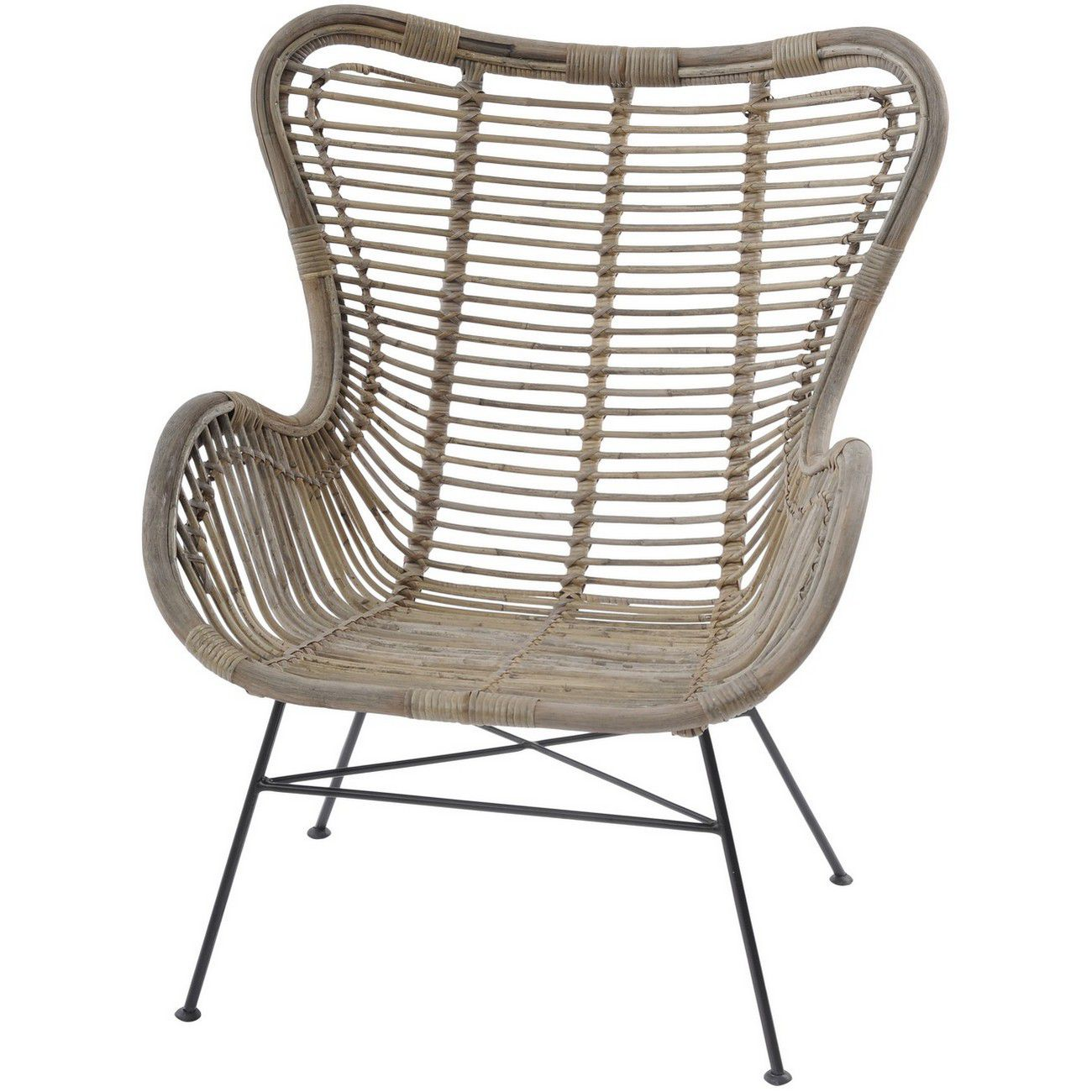 Toba Rattan Wing Back Chair thumbnail
