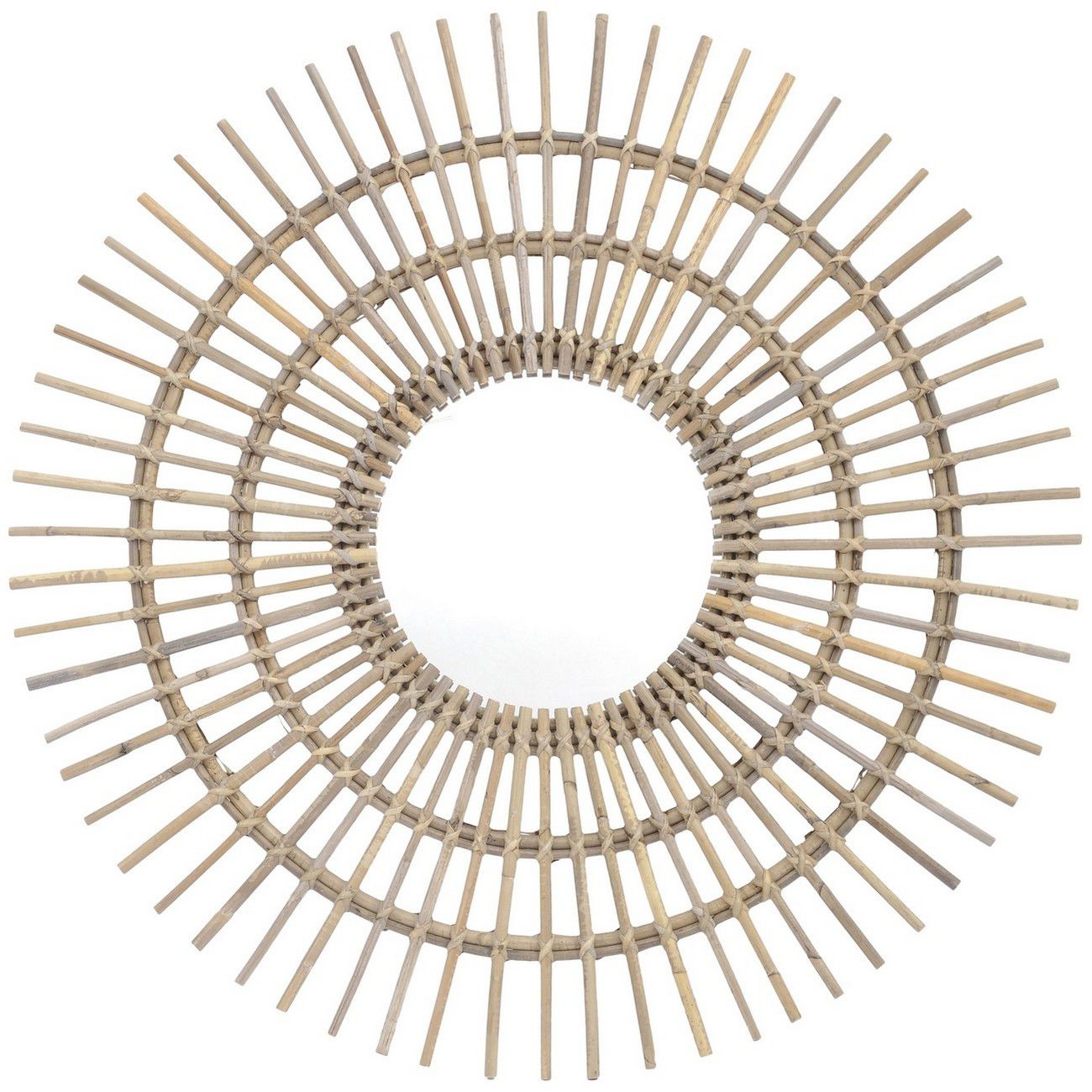 Toba Large Spoke Rattan Mirror thumbnail