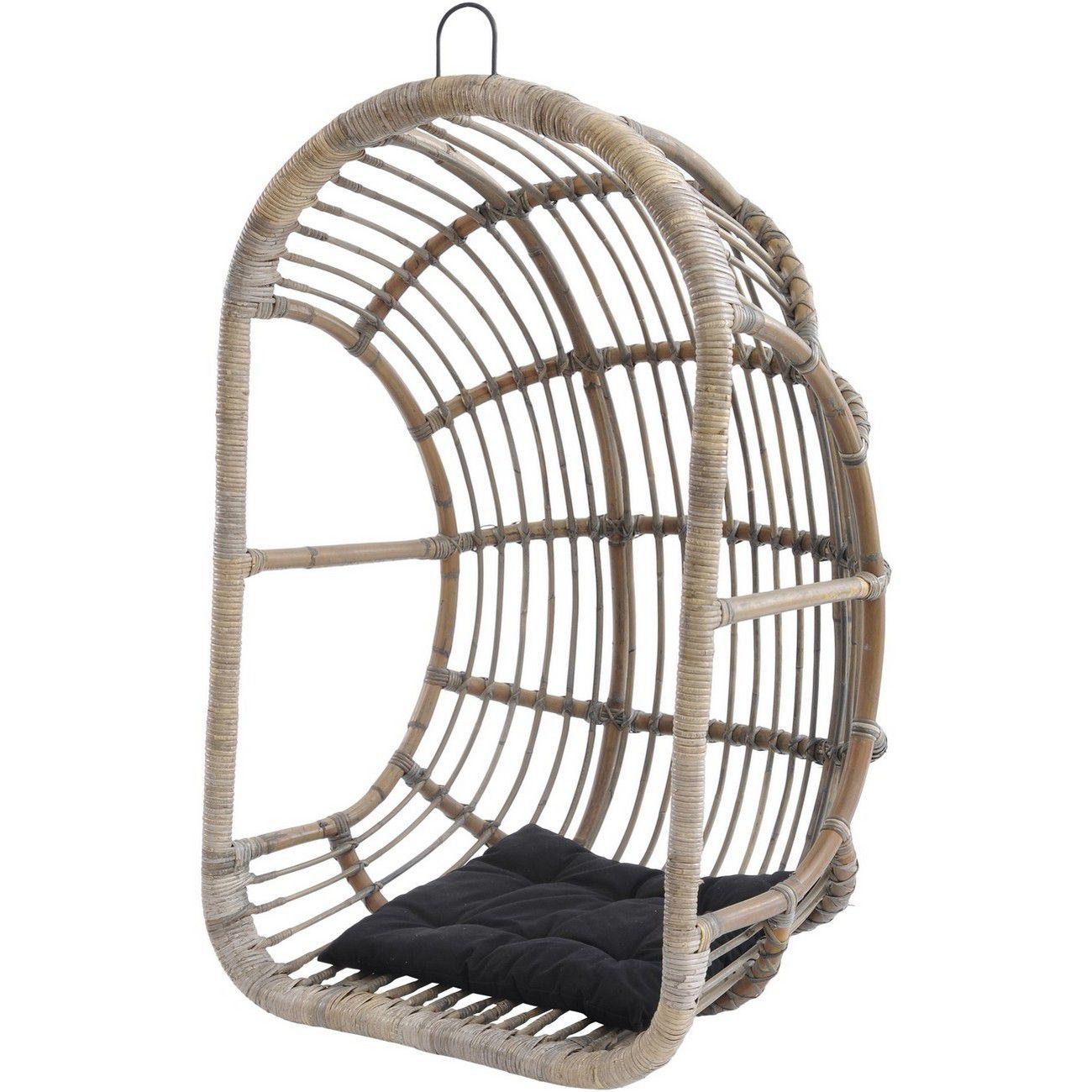 Toba Rattan Egg Chair With Cushion thumbnail