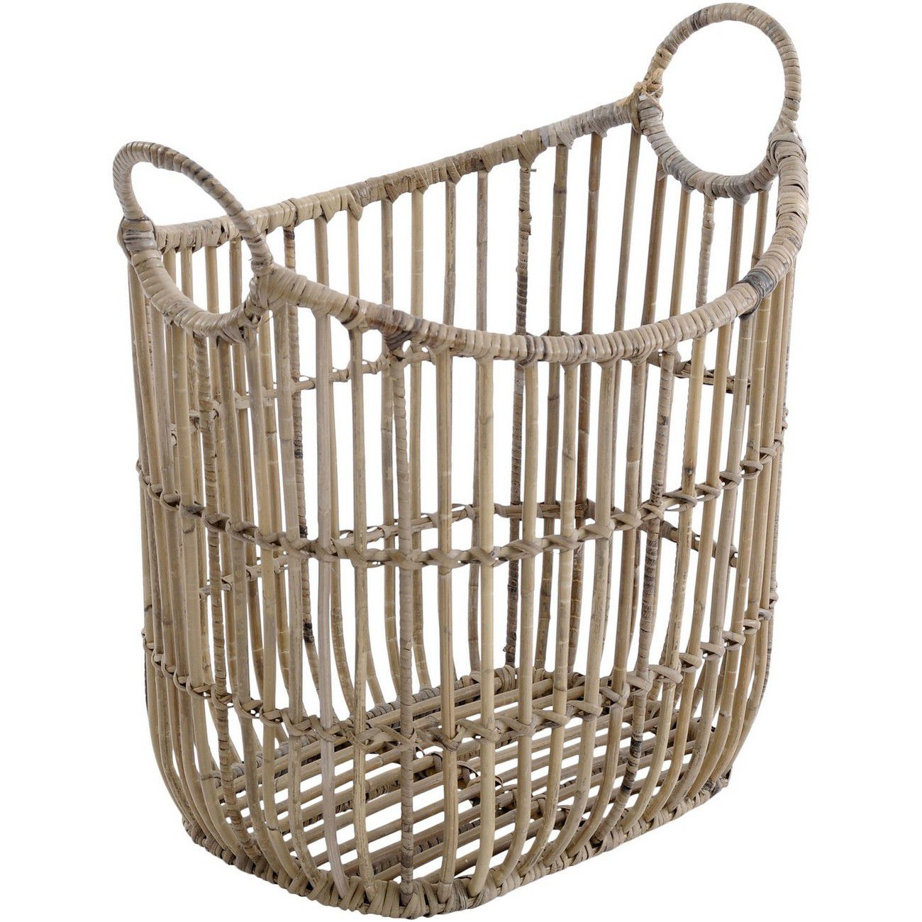 Toba Rattan Basket With Handles thumbnail