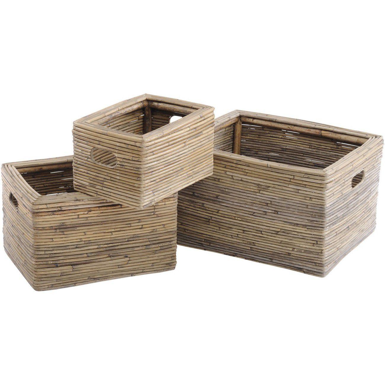 Toba Set Of Three Rectangular Baskets thumbnail