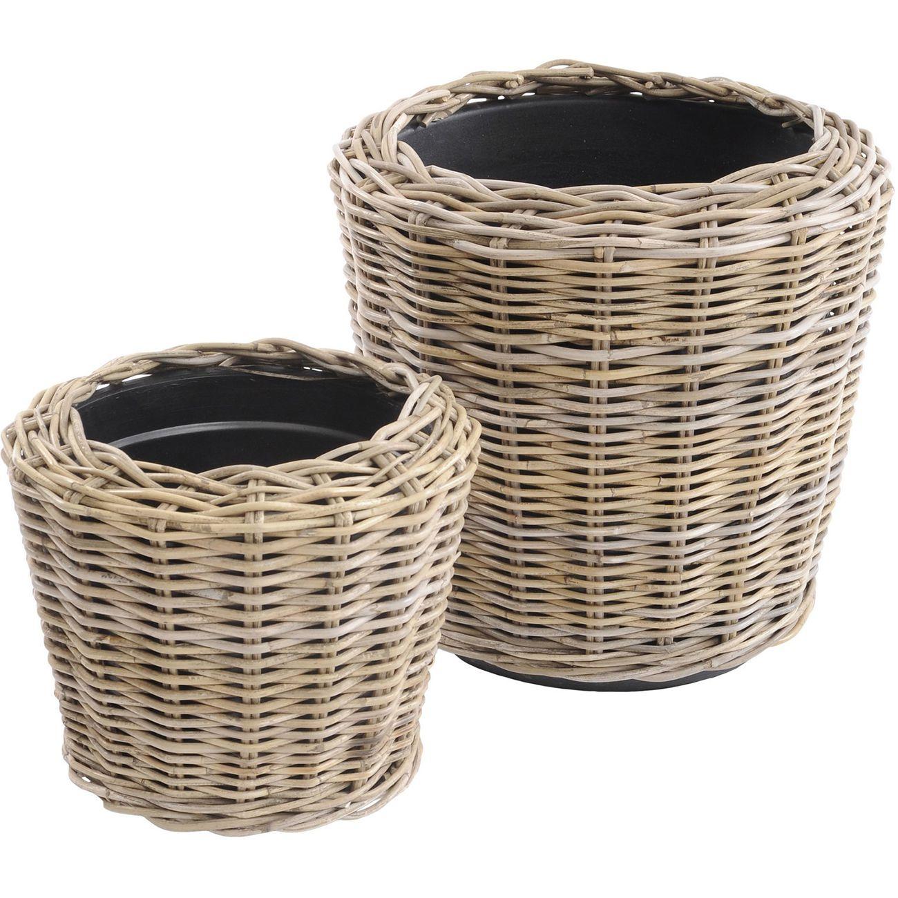 Toba Natural Rattan Drypots (Set of Two) thumbnail
