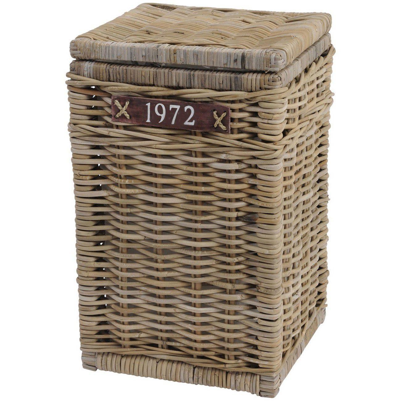 Toba Rectangular Laundry Basket With 1972 Leather Strap thumbnail