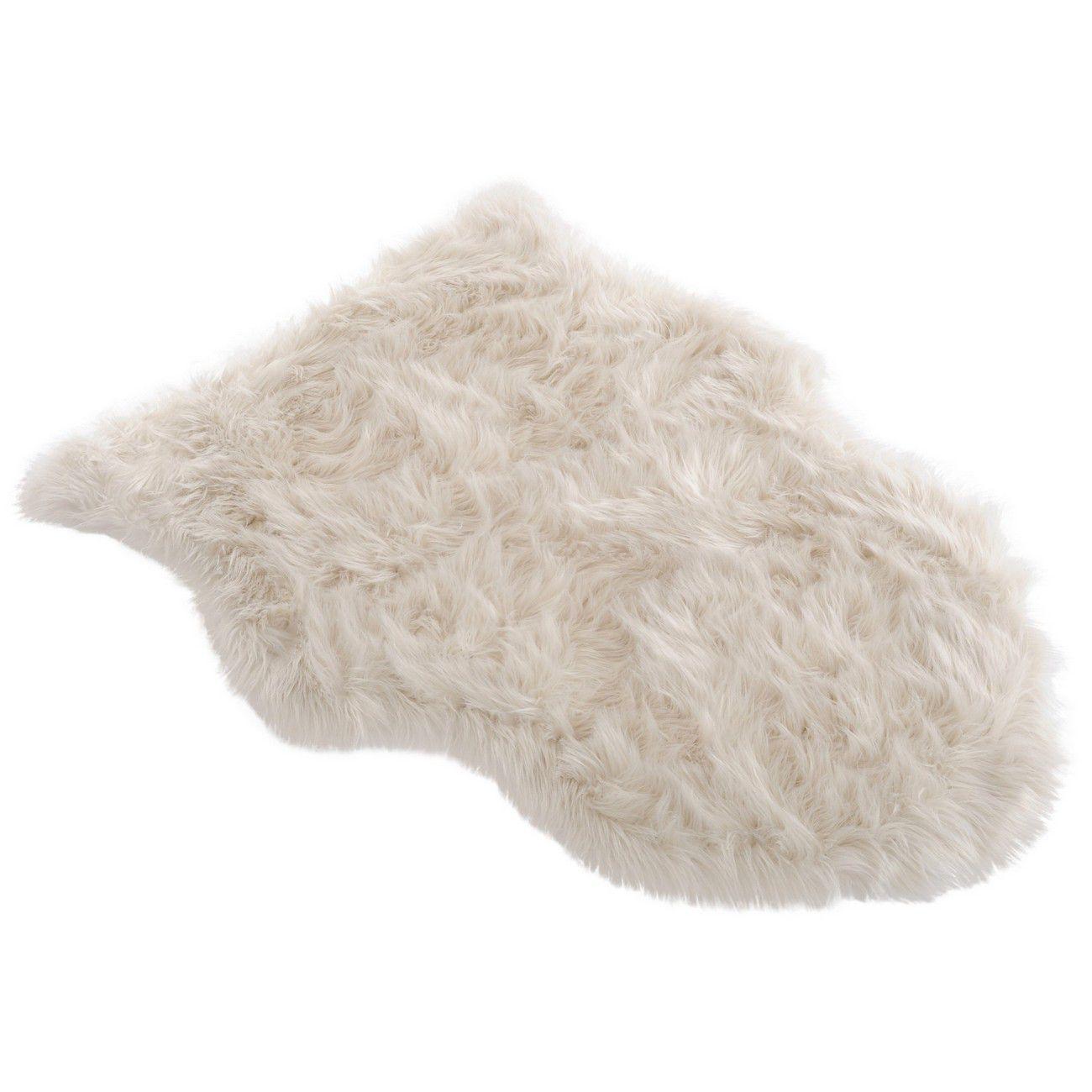 Faux Cream Sheepskin Rug 65cmx90cm thumbnail