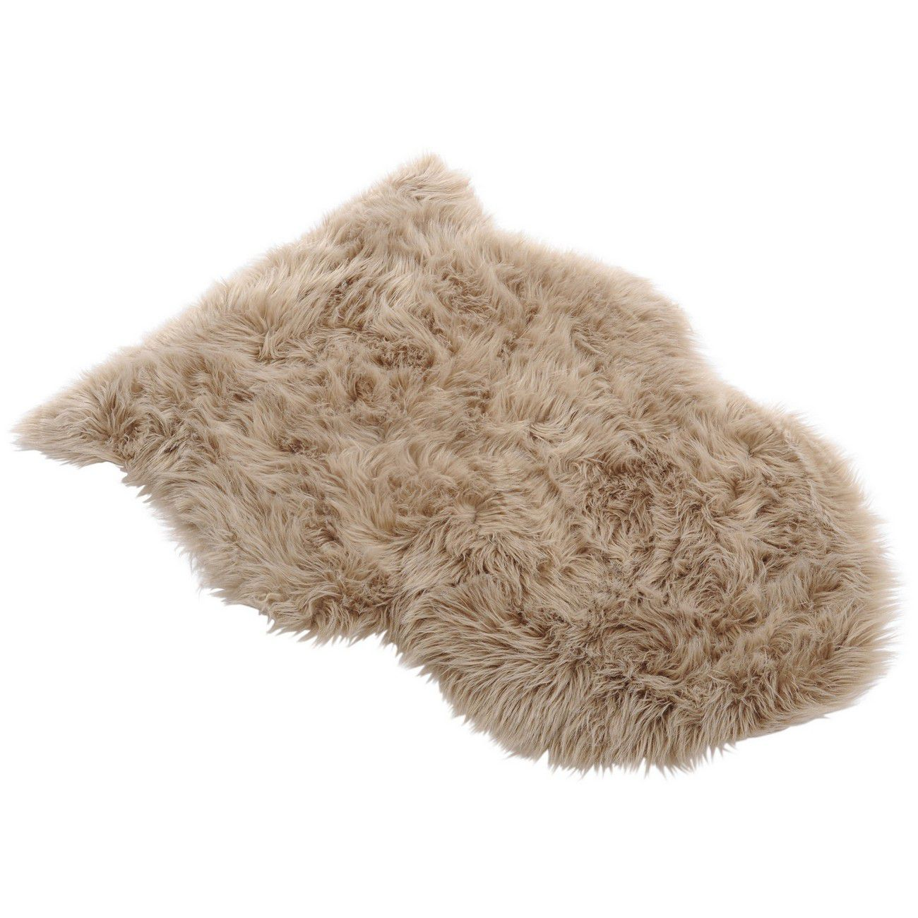 Faux Taupe Sheepskin Rug 65cmx90cm thumbnail