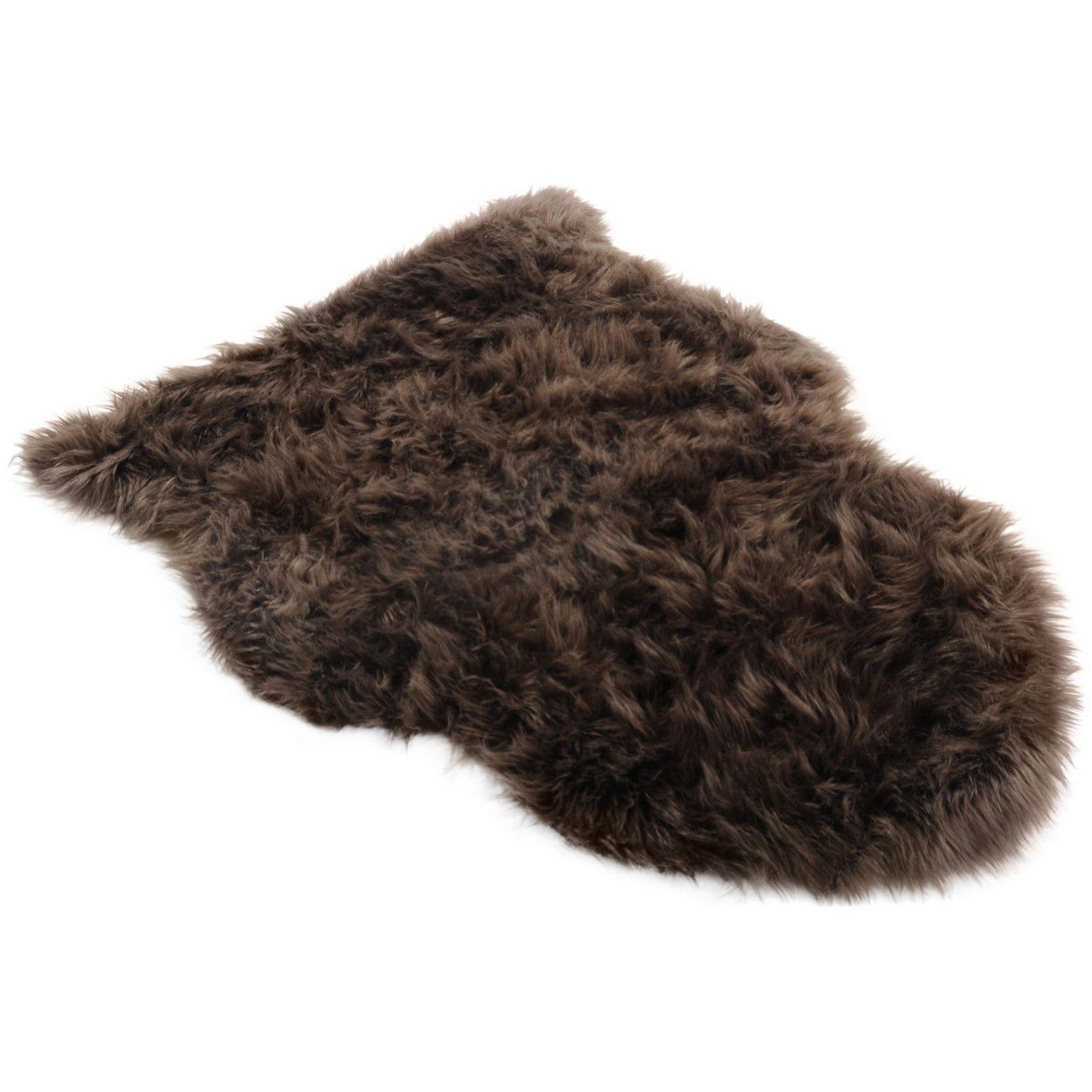 Faux Brown Sheepskin Rug 65cmx90cm thumbnail