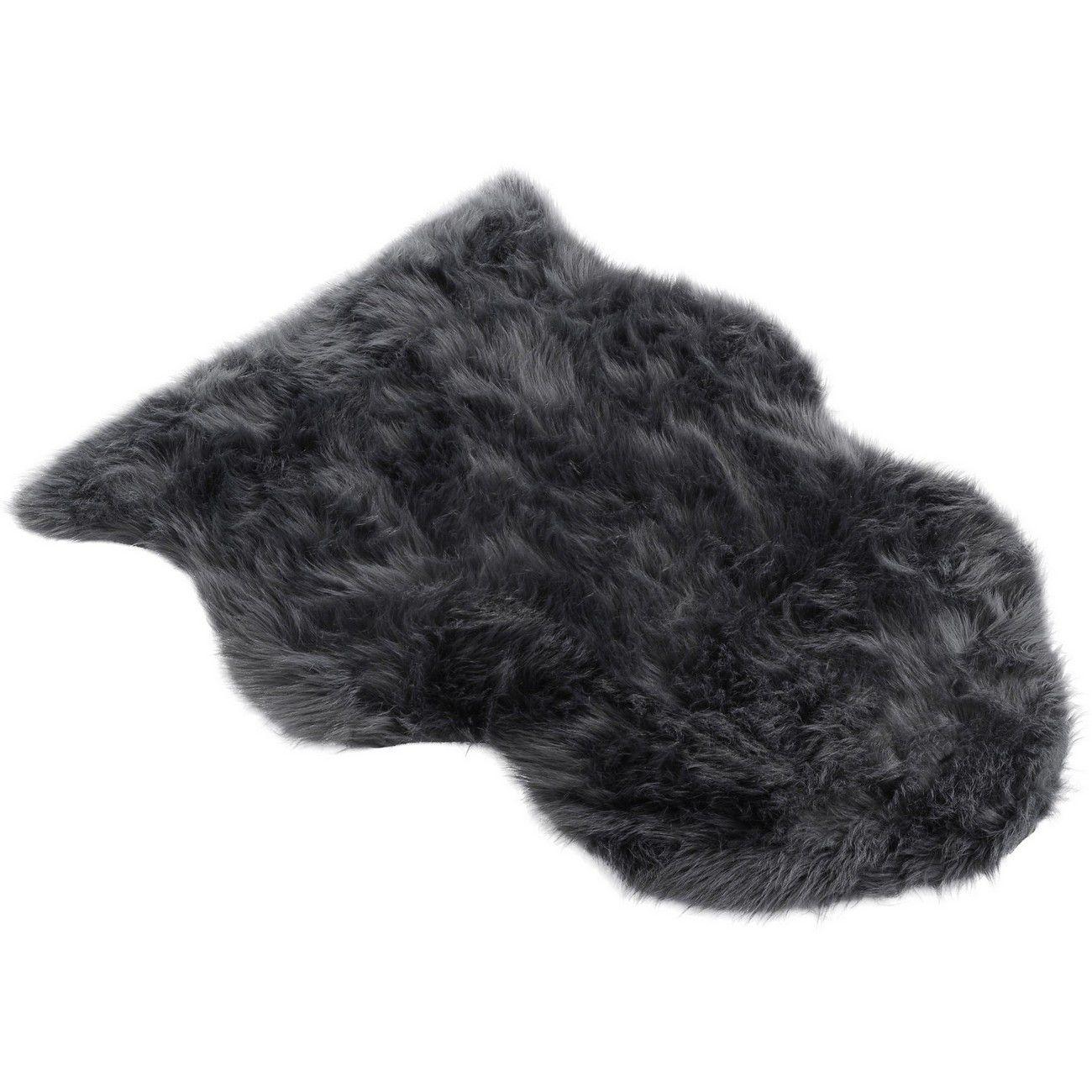 Faux Grey Sheepskin Rug 60cmx90cm thumbnail