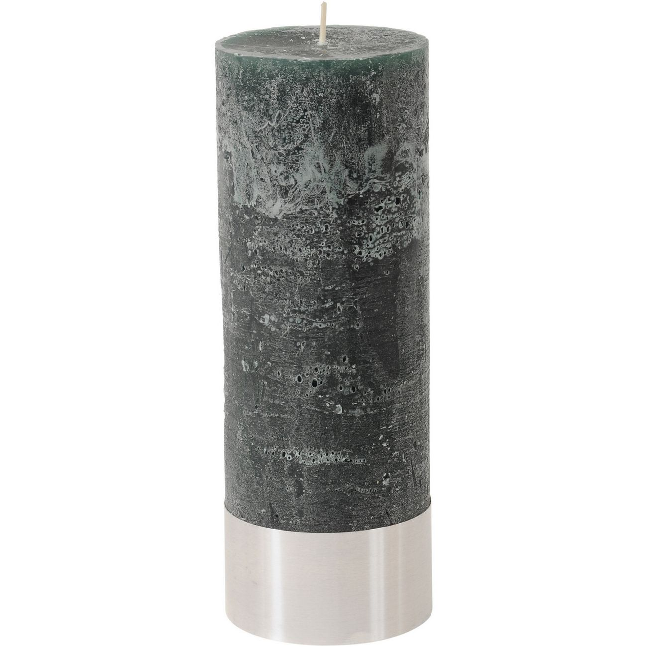 Green Rustica Pillar Candle 7x19cm thumbnail