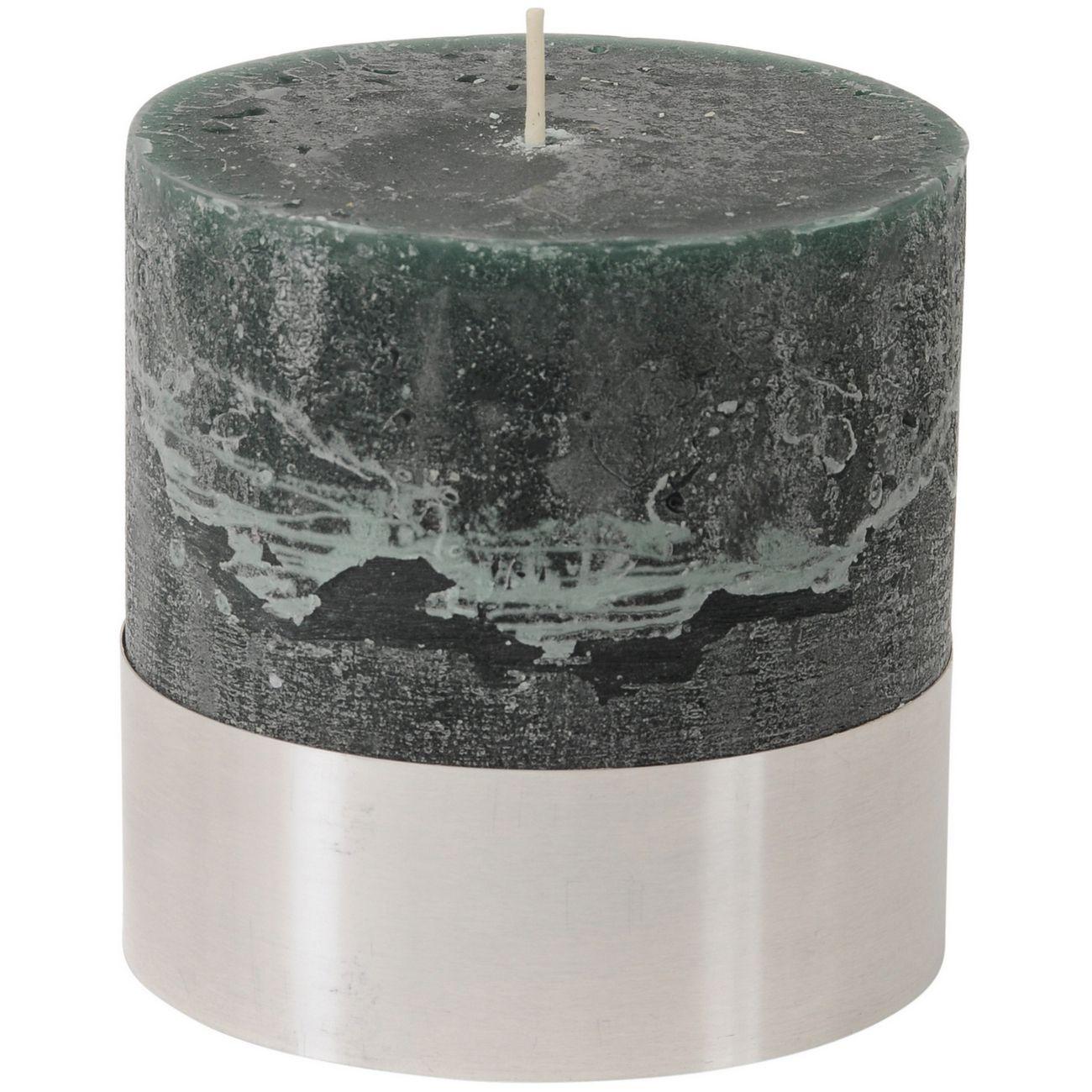 Green Rustica Pillar Candle 10x10cm thumbnail
