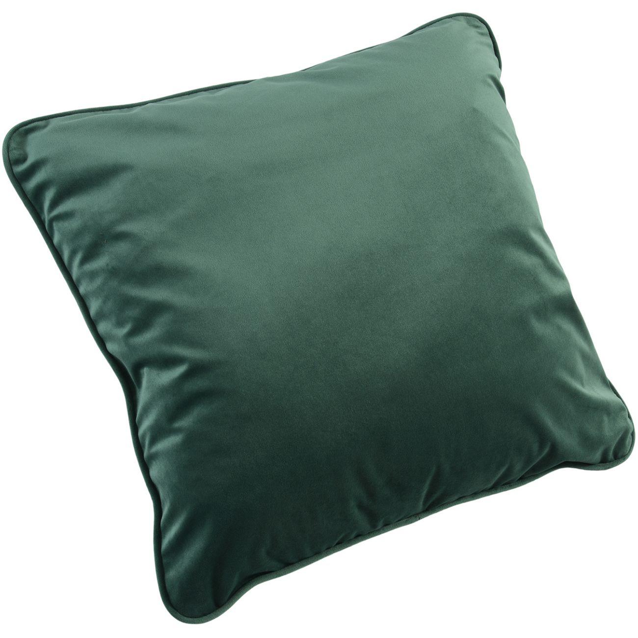 Ellison Plain Green Velvet Cushion 50x50cm thumbnail