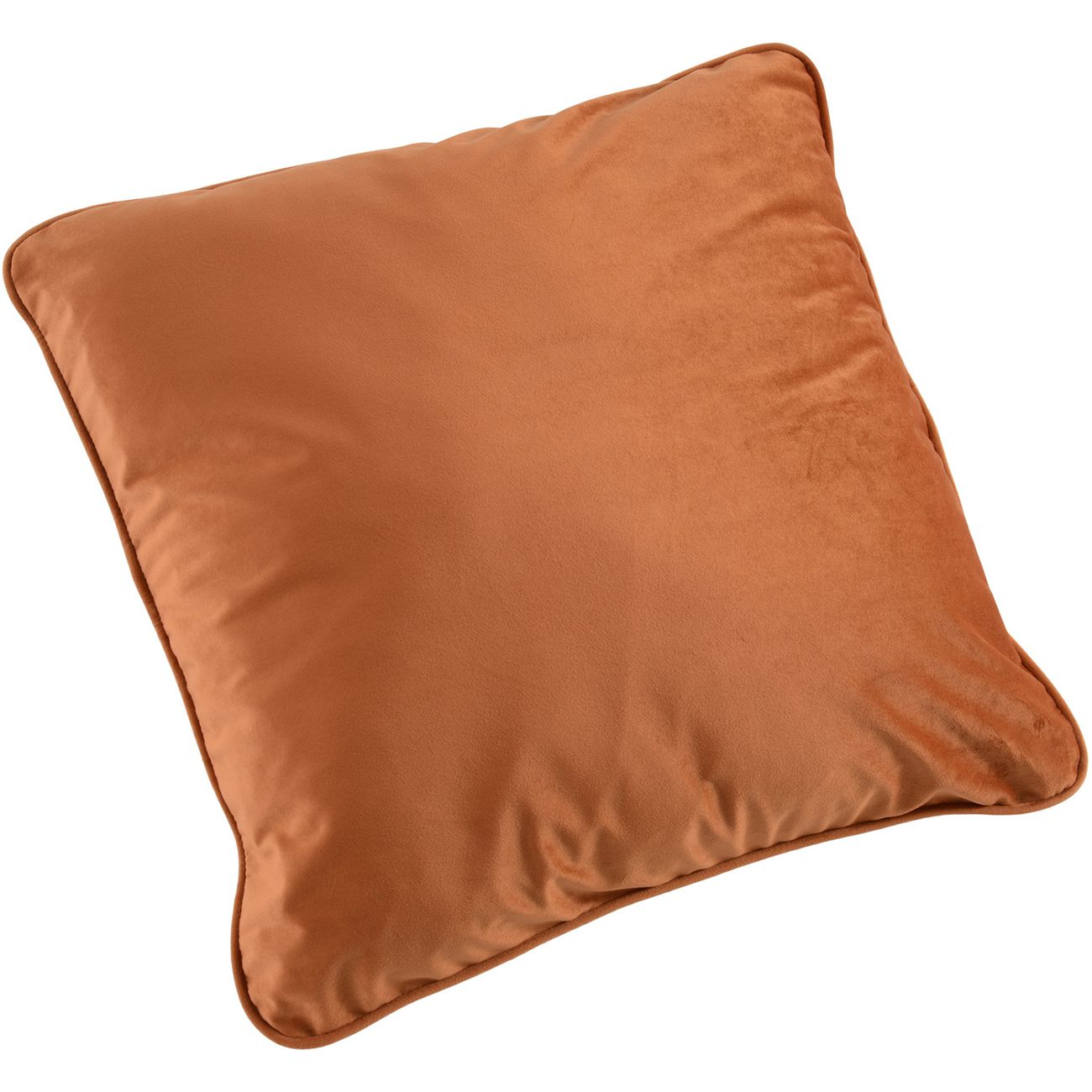 Ellison Plain Orange Velvet Cushion 50X50cm thumbnail