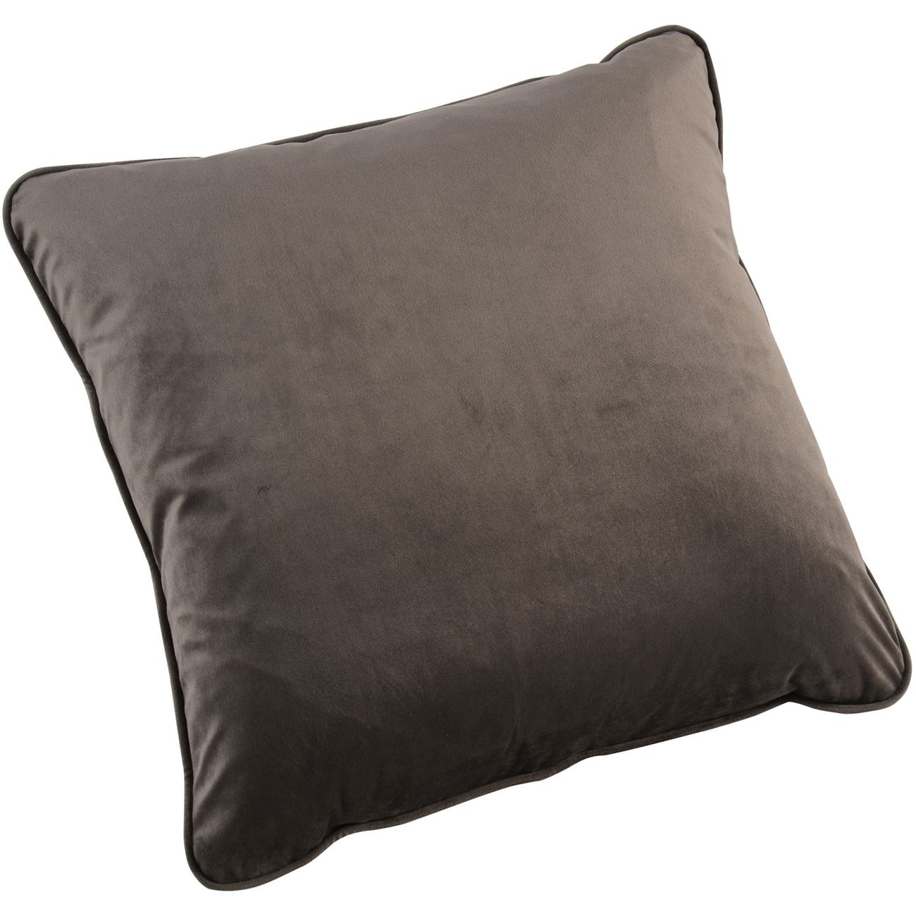 Ellison Plain Grey Velvet Cushion 50x50cm thumbnail