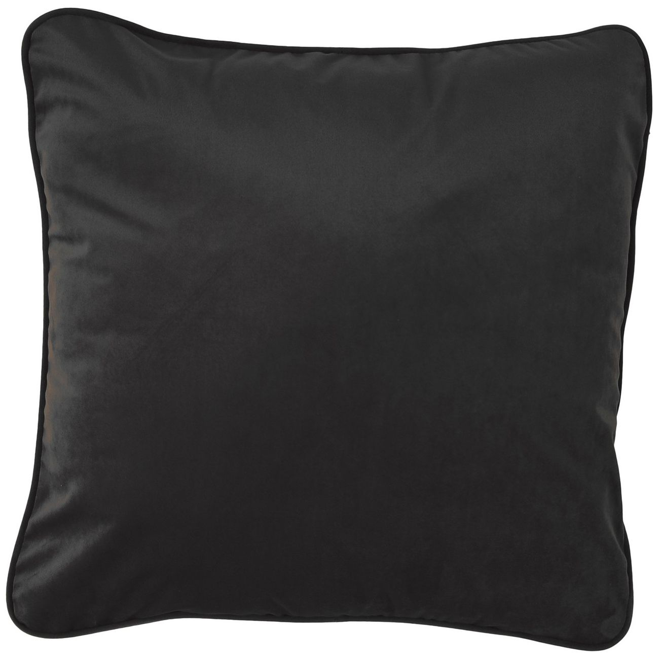 Ellison Plain Black Velvet Cushion 50x50cm thumbnail