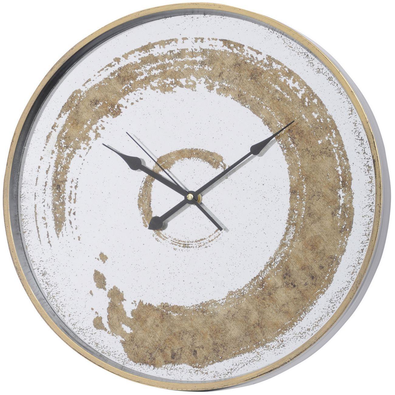 Gold Swirl Mirrored Wall Clock thumbnail