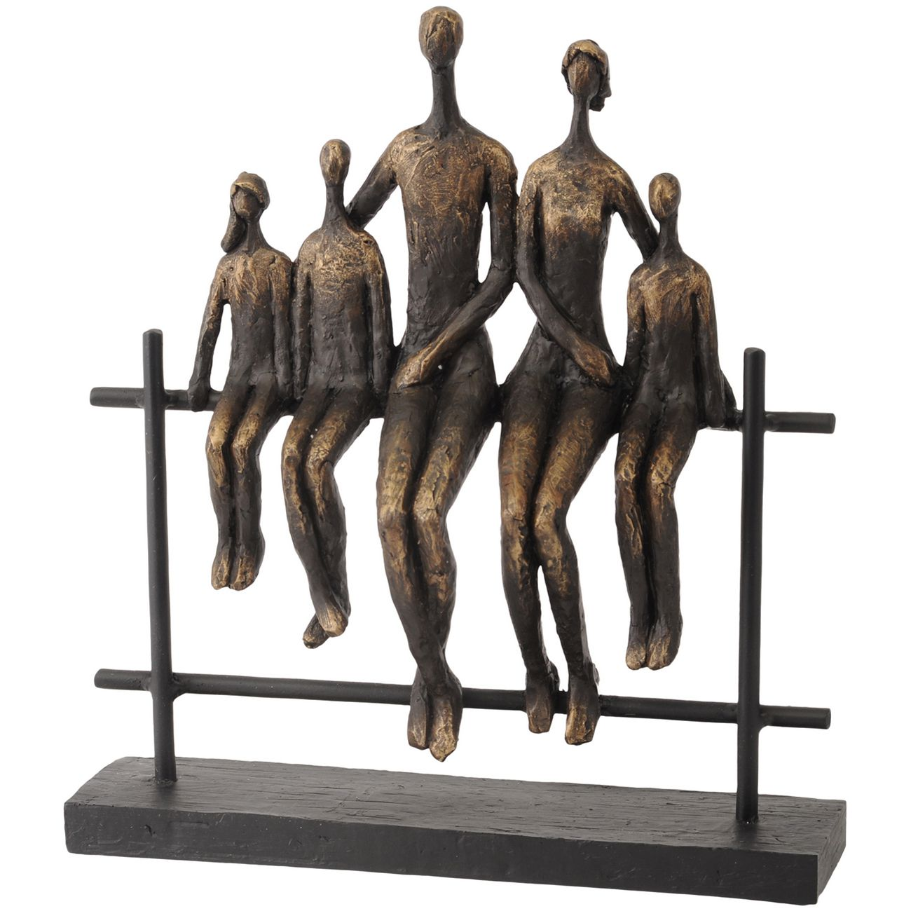 Duxford Bench Family Of Five Sculpture thumbnail