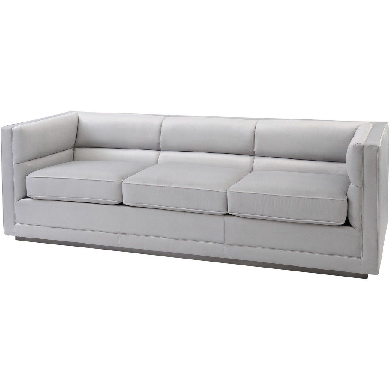 Astell Light Grey Three Seater Sofa thumbnail