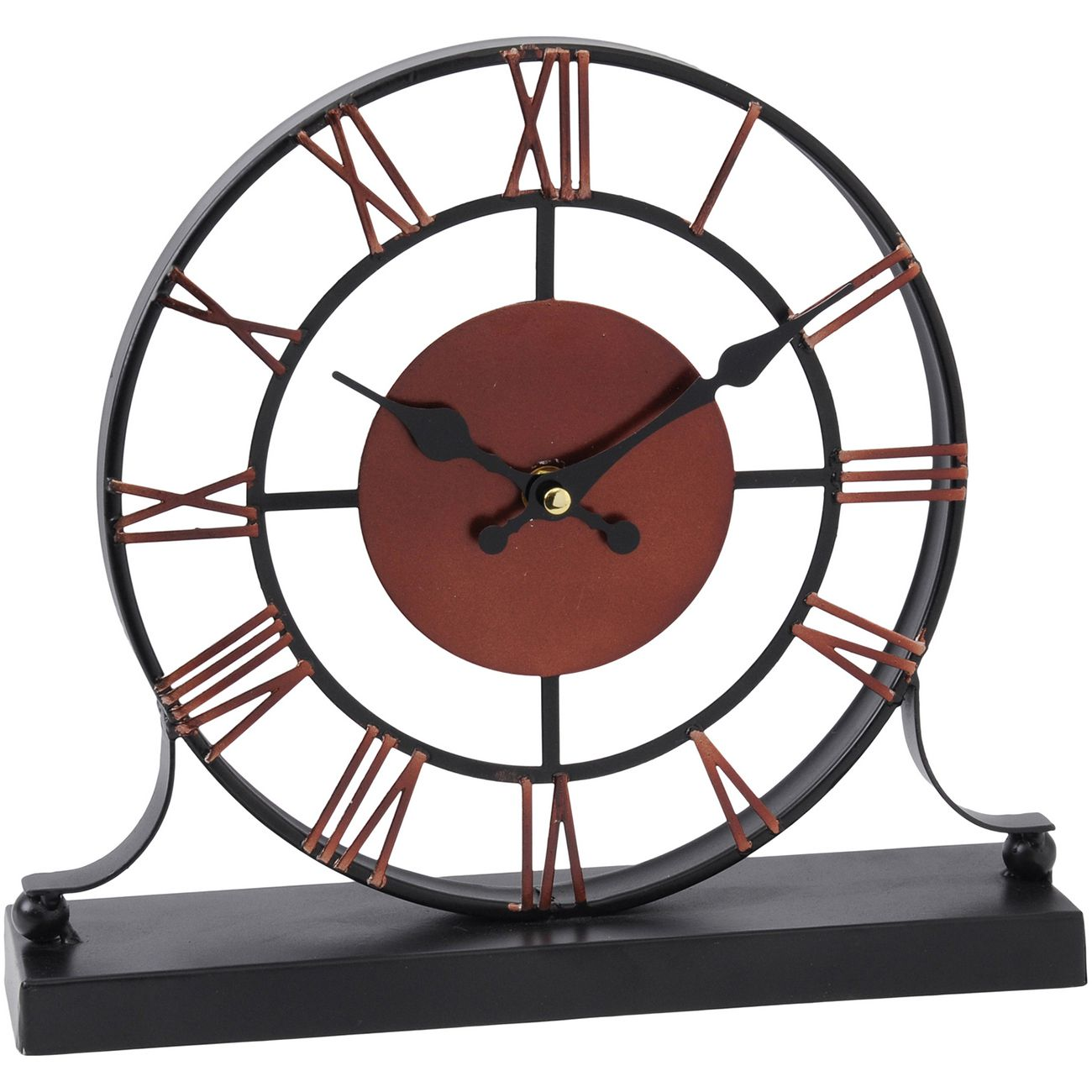 Black And Dark Red Skeleton Mantel Clock thumbnail