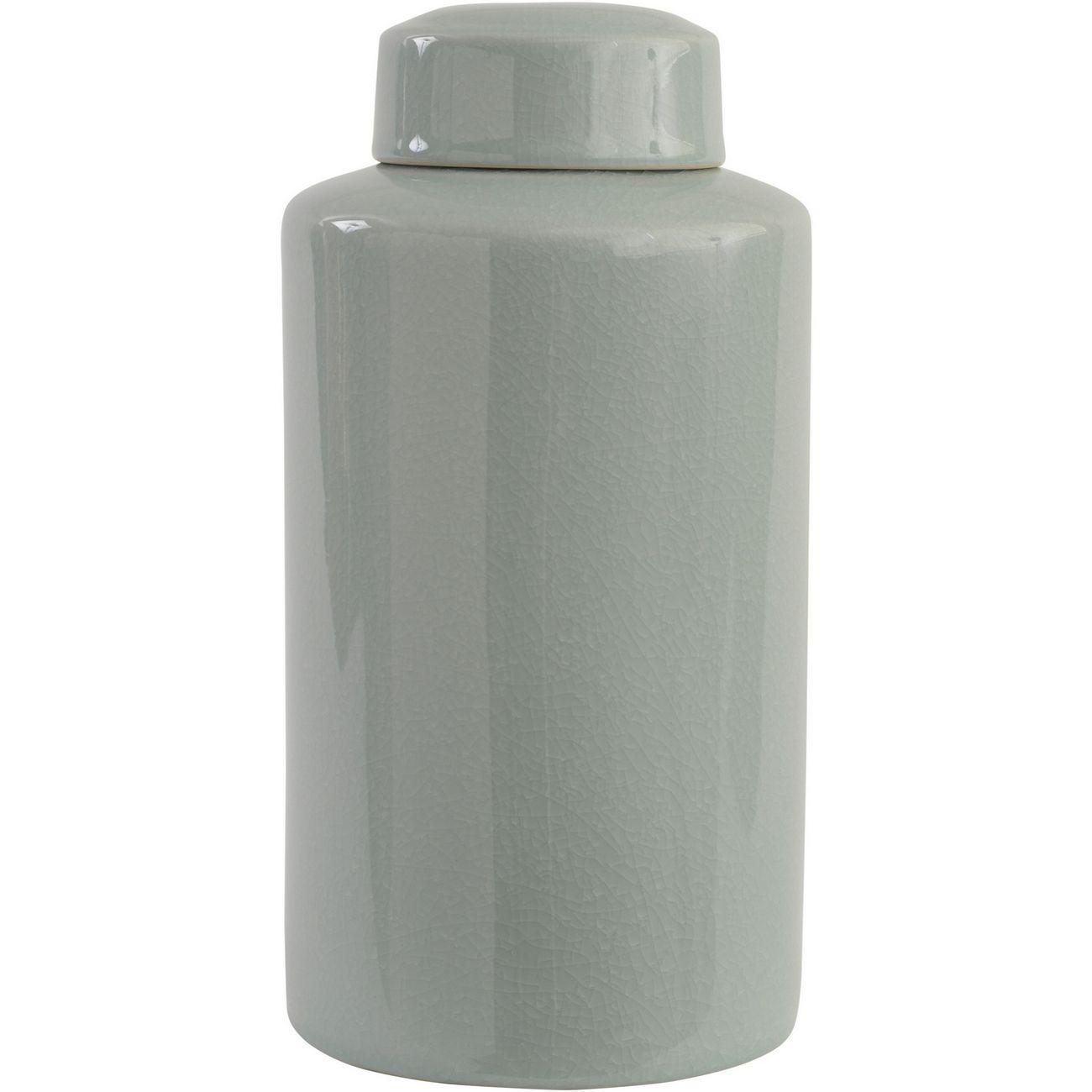 Celadon Green Crackle Ceramic Lidded Jar thumbnail