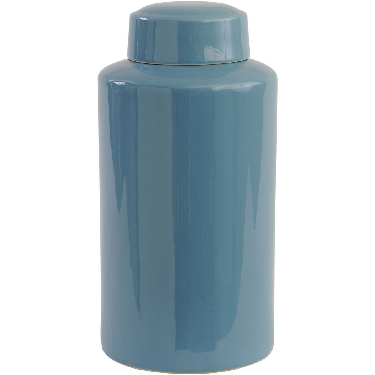Blue Crackle Ceramic Lidded Jar thumbnail