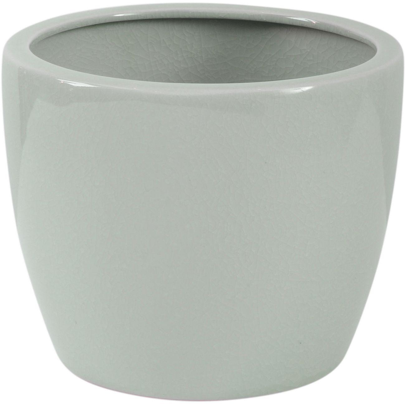 Celadon Green Crackle Ceramic Planter thumbnail