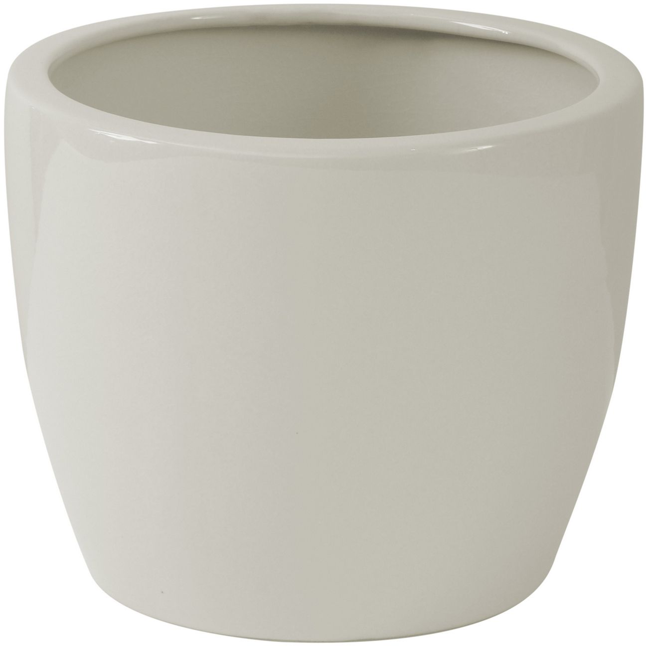 White Crackle Ceramic Planter thumbnail
