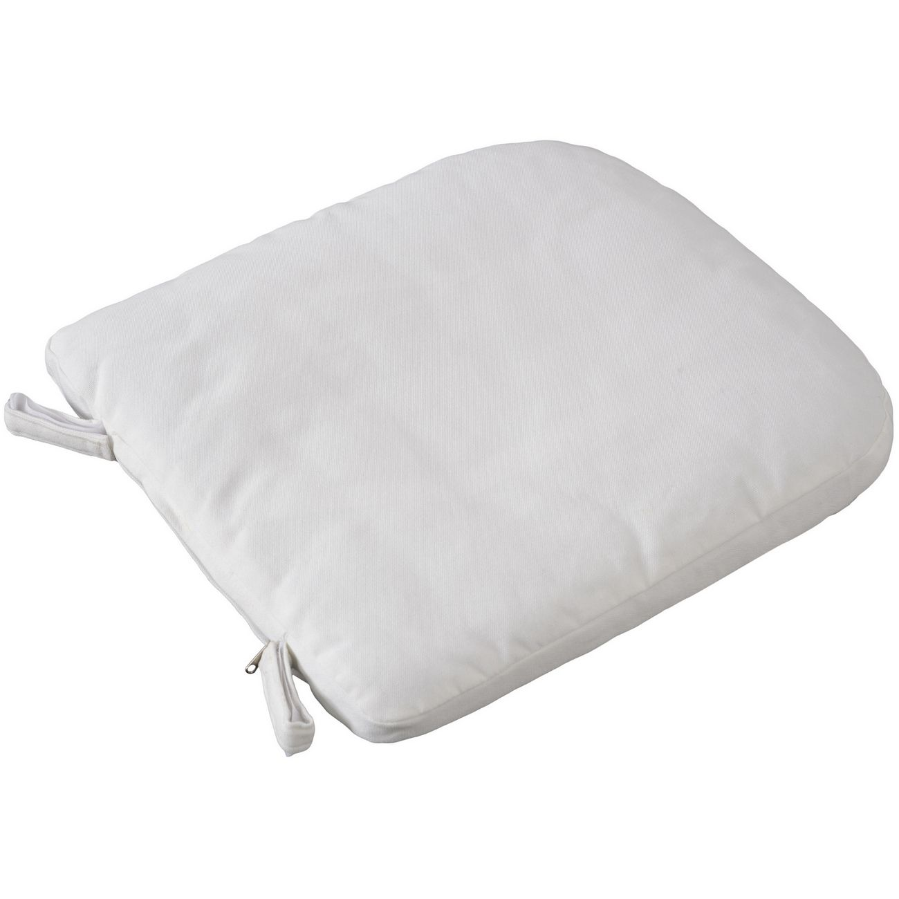 White Cushion For Rattan Dining Chair 702597 thumbnail