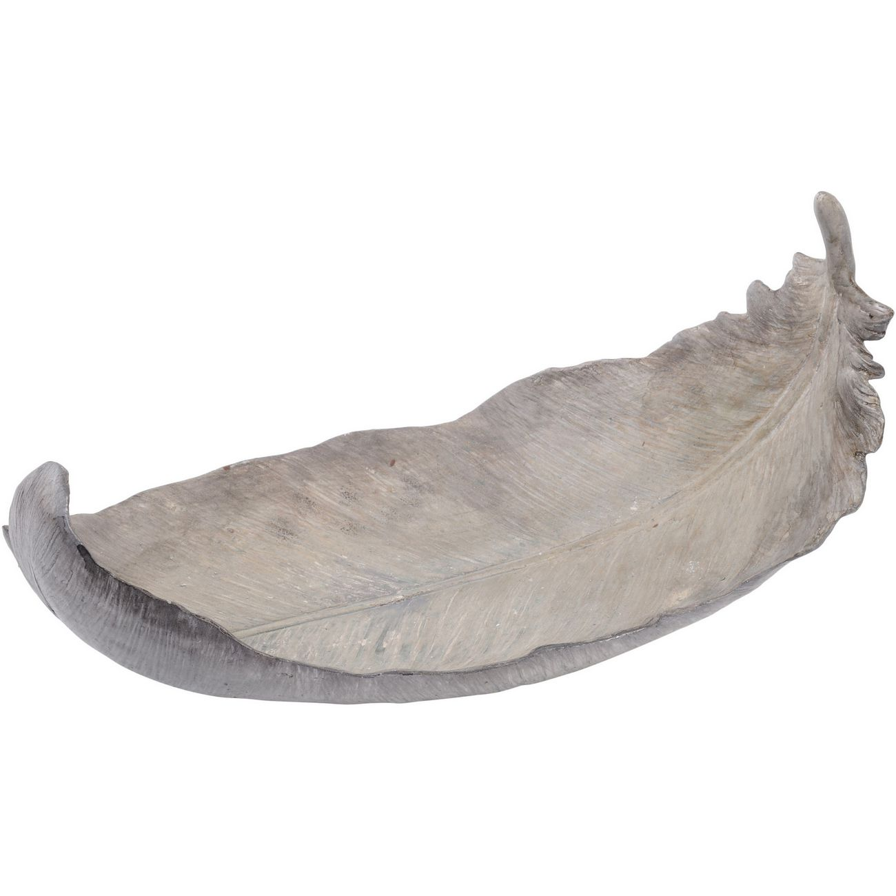 Grey Wash Resin Feather Platter thumbnail