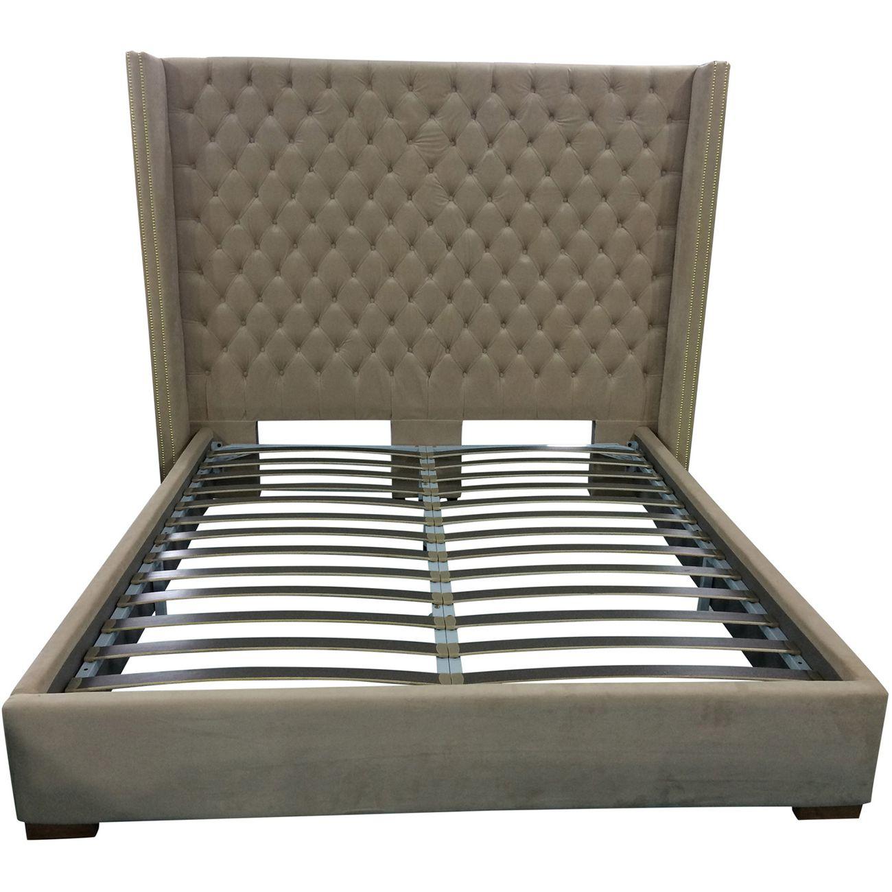 Aprilia Cream Button Back Super King Size Bed Frame thumbnail
