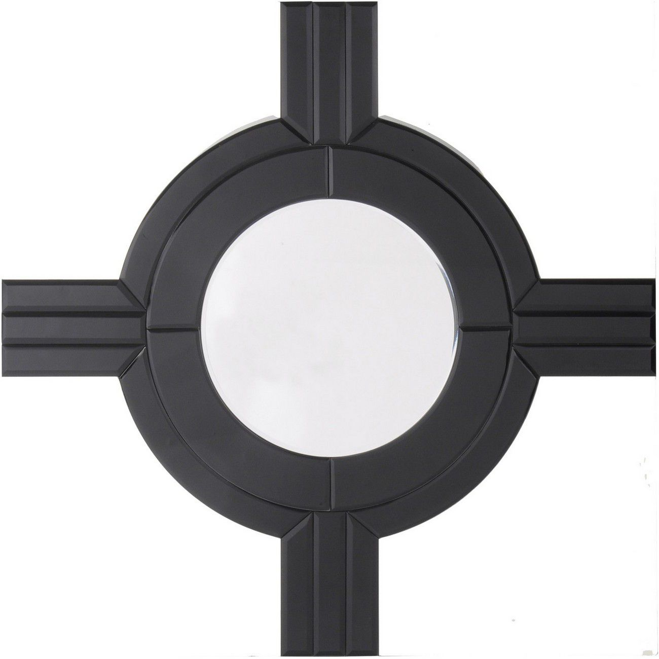 Zamora Black Detail Square Mirror thumbnail