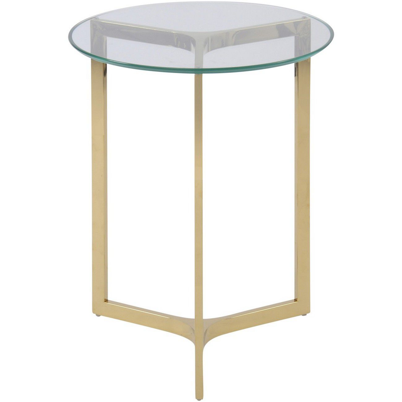 Linton Gold Stainless Steel And Glass End Table thumbnail