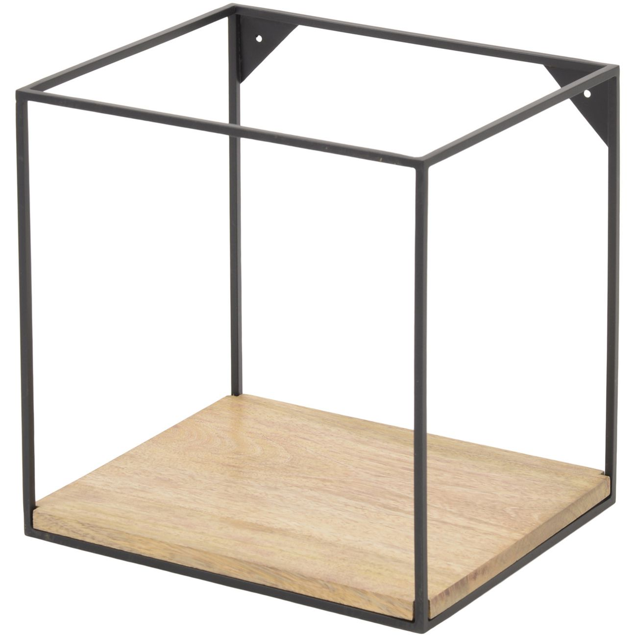 Kempsey Wood And Iron Medium Single Shelf Wall Unit thumbnail