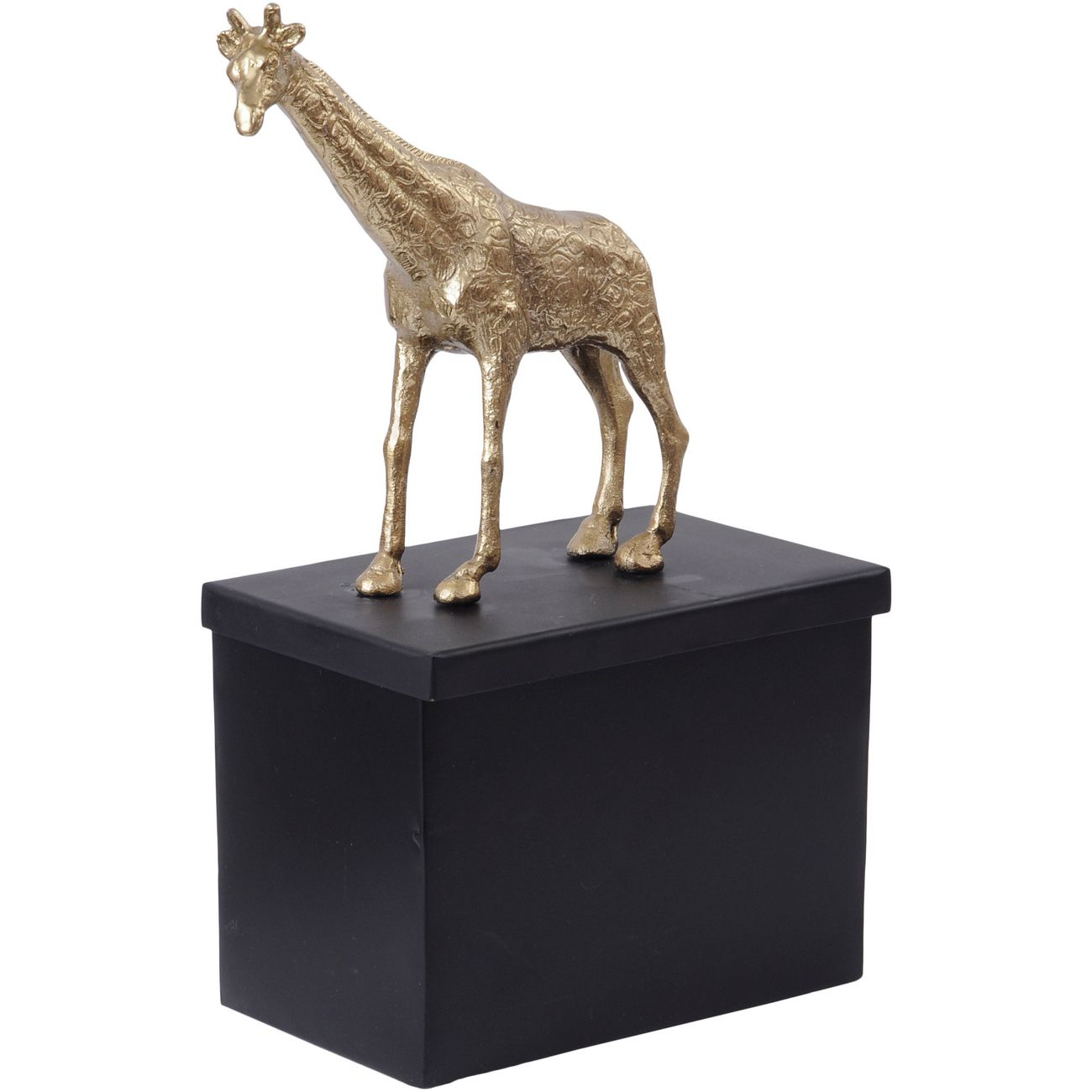 Black And Gold Metal Giraffe Tin thumbnail