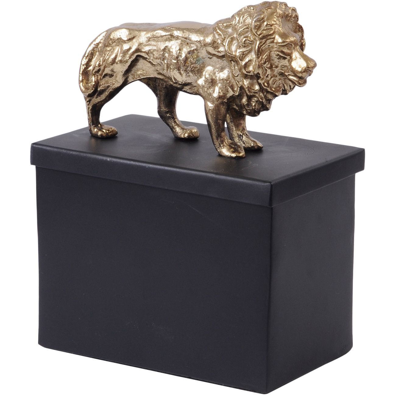 Black And Gold Metal Lion Tin thumbnail