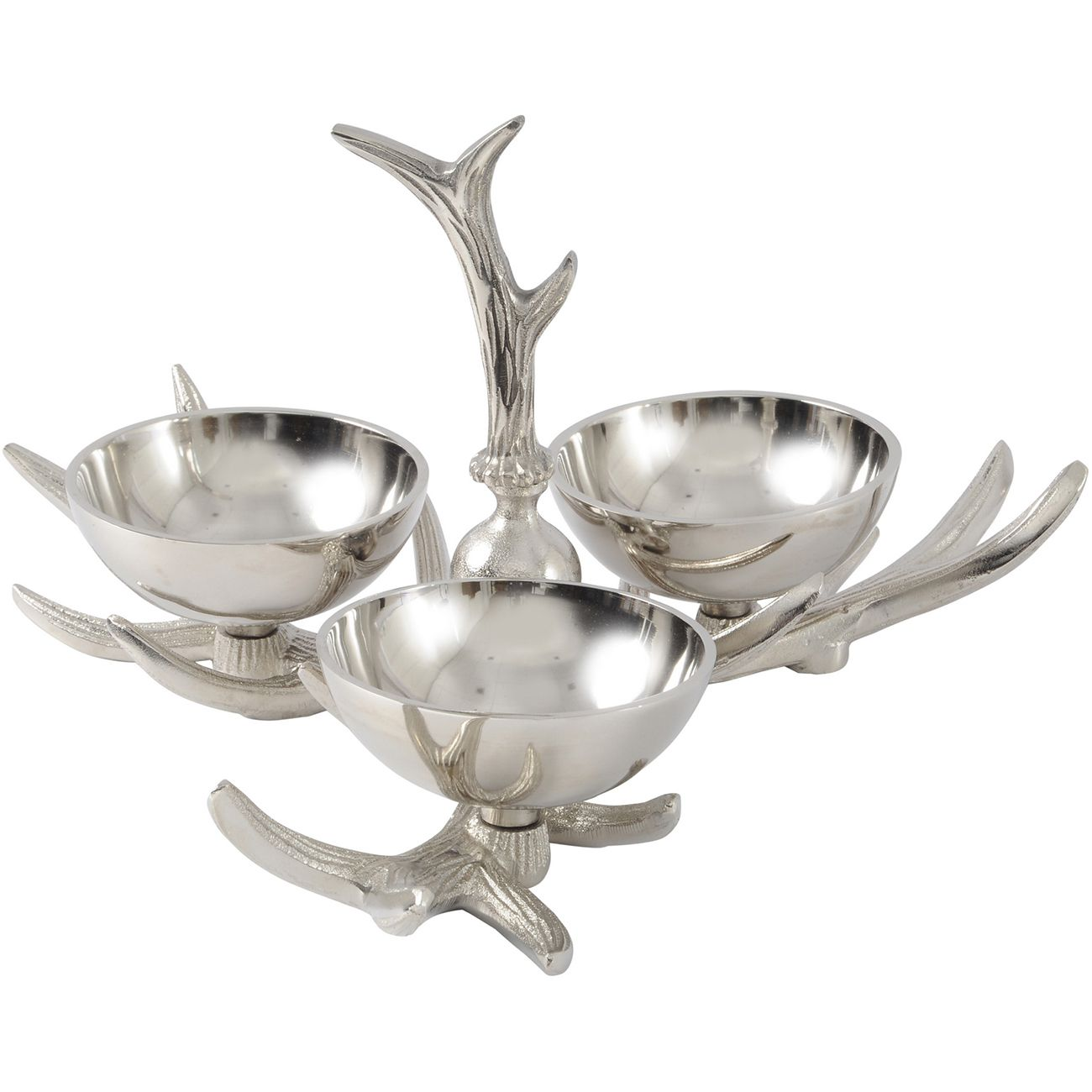 Antler Nickel Aluminium Bowl Trio thumbnail