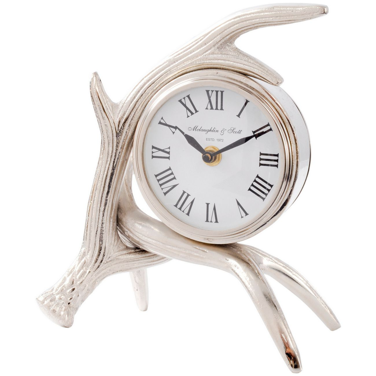 Antler Nickel Mantel Clock thumbnail