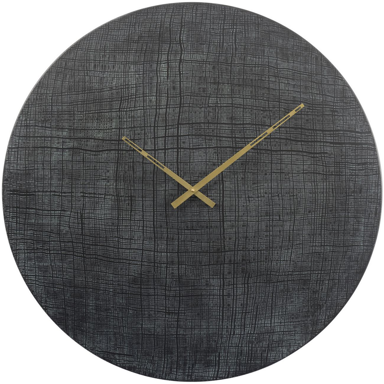 Textured Black And Green Aluminium Wall Clock thumbnail