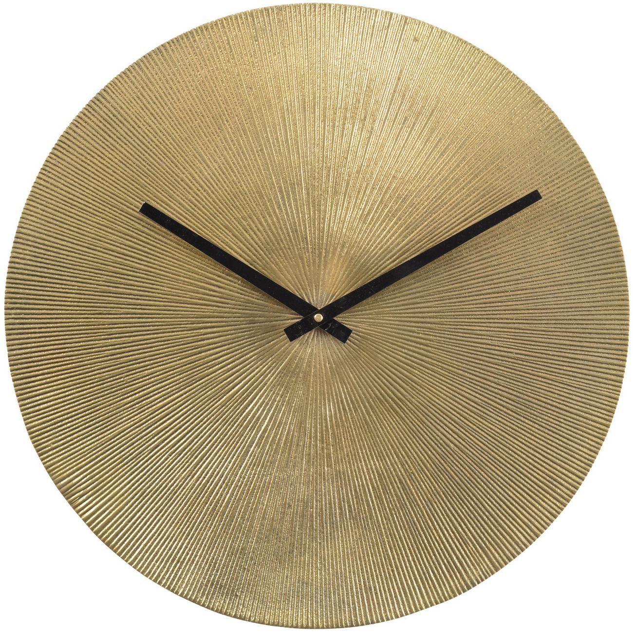 Antique Gold Starburst Aluminium Wall Clock thumbnail