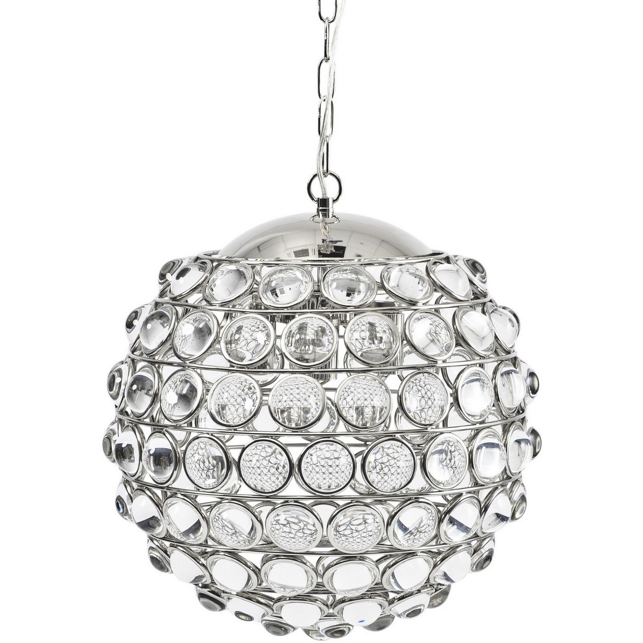 Oakley Round Nickel Crystal Chandelier E14 40W 6 thumbnail