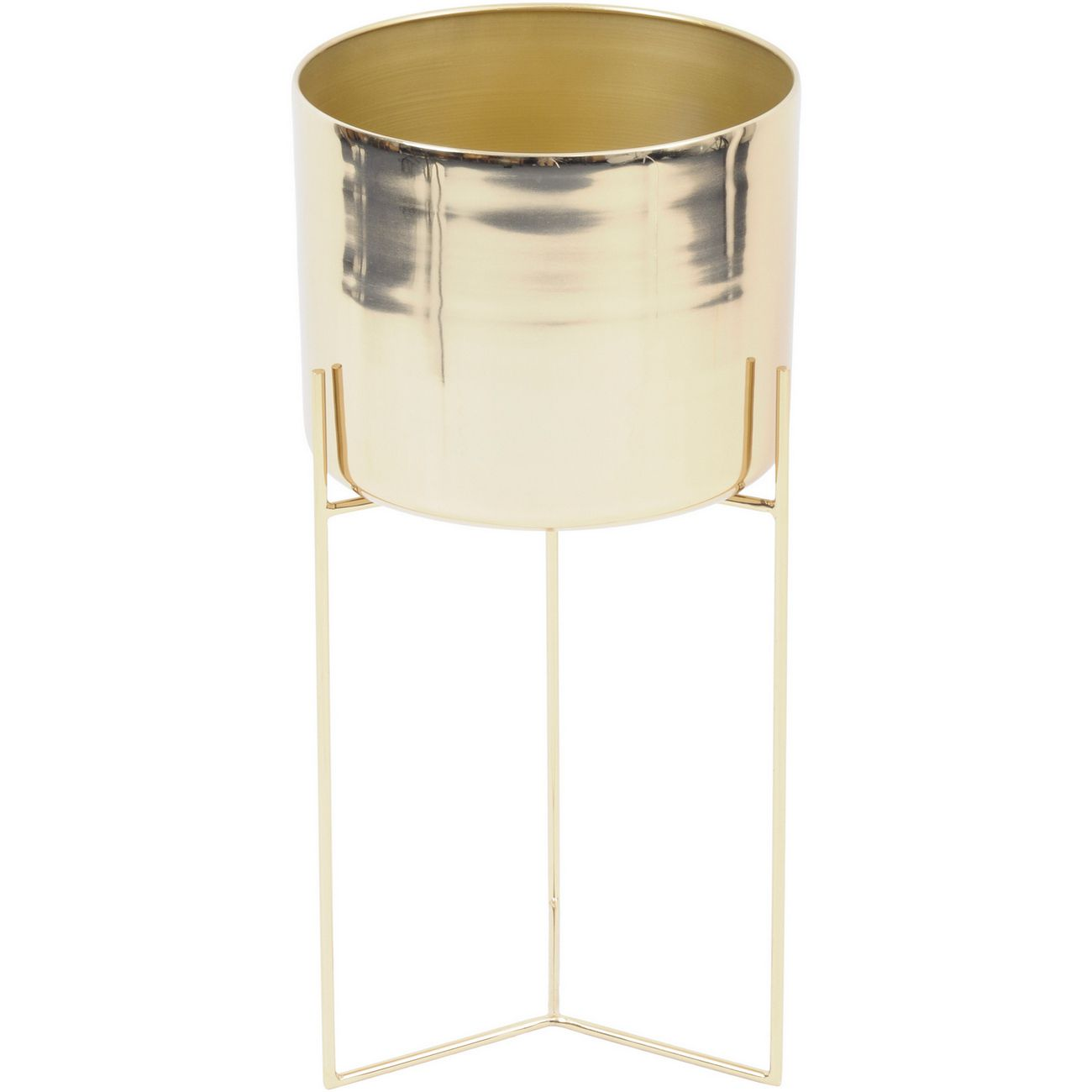 Easton Gold Planter on Stand thumbnail
