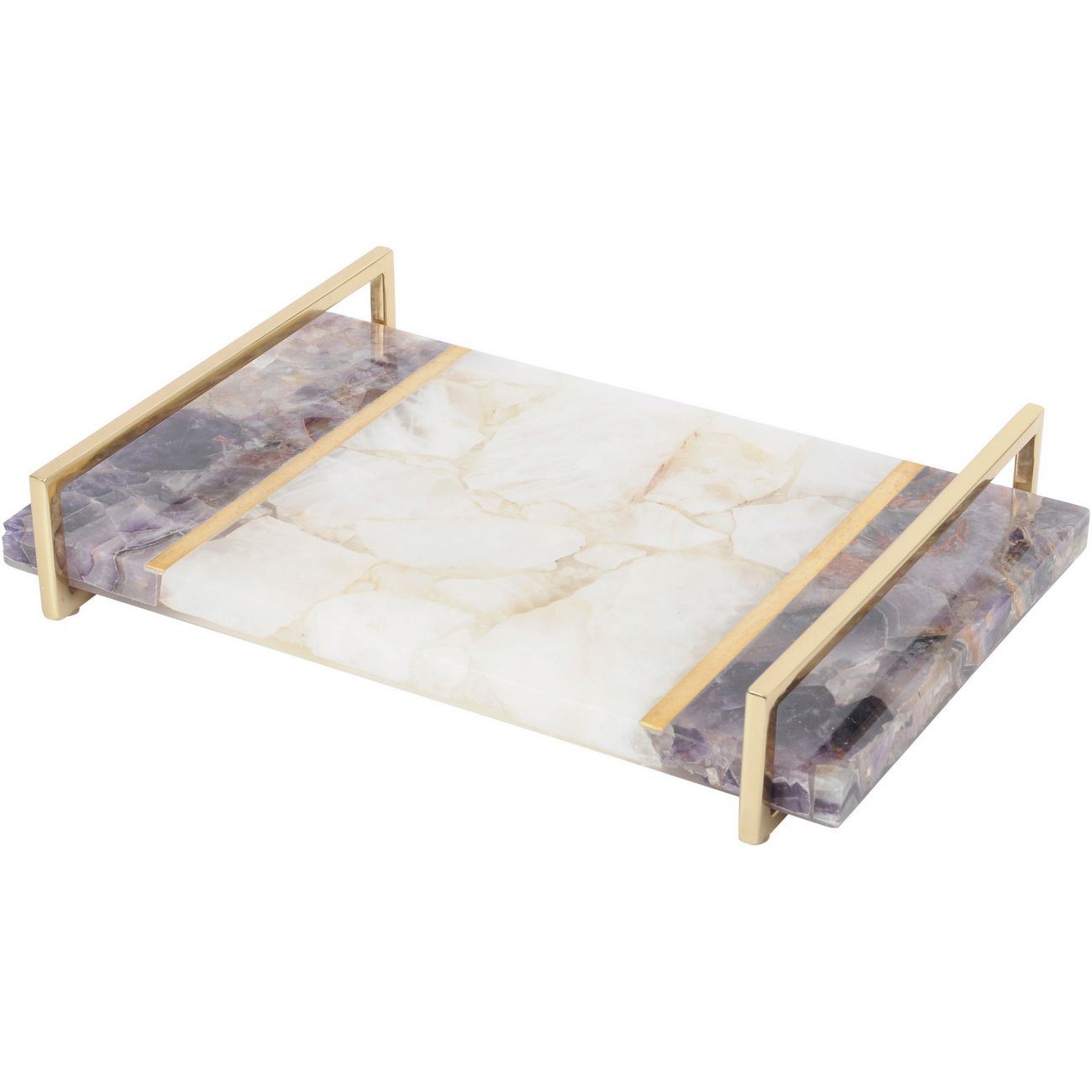 Atarah White and Purple Quartz Tray thumbnail