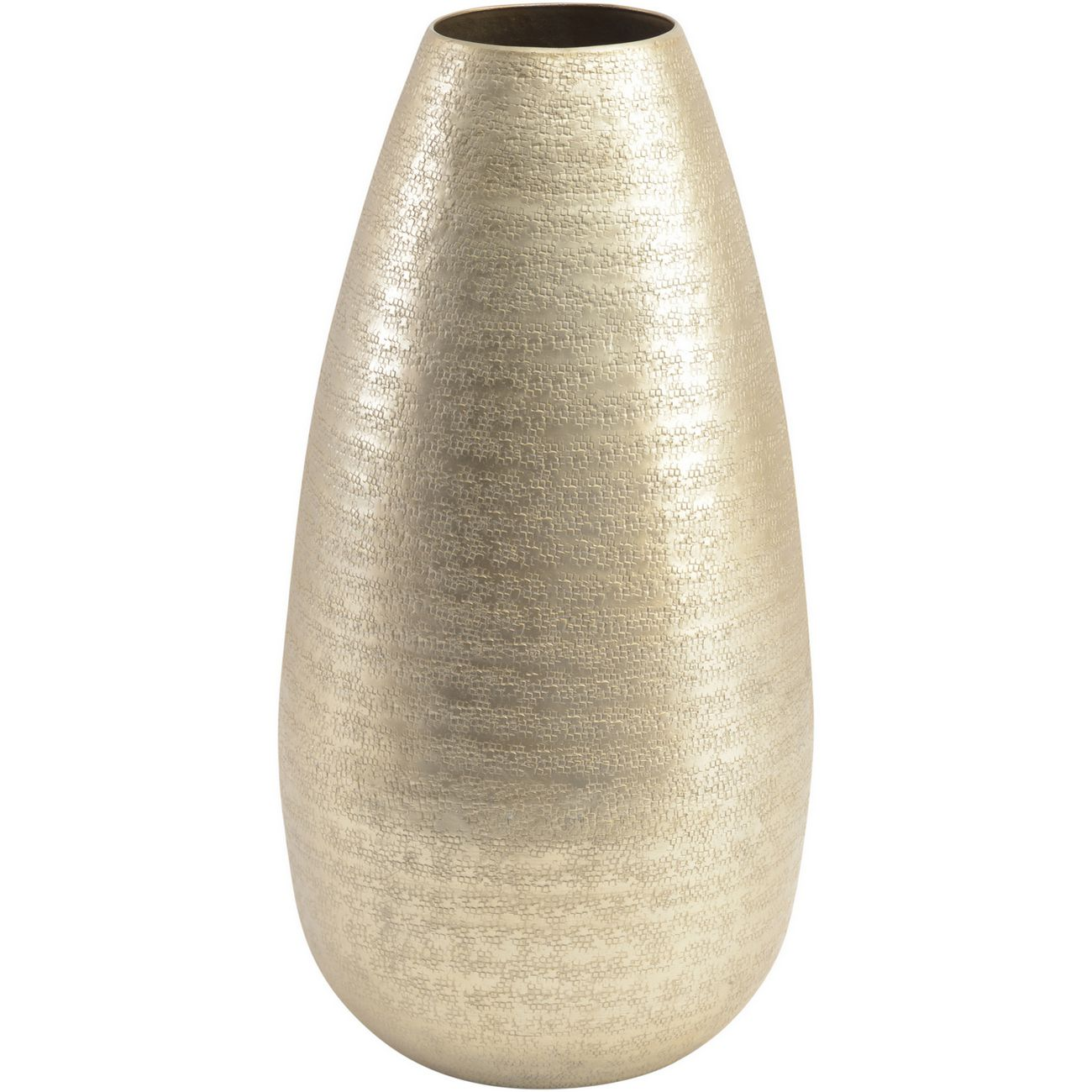 Amaya Champagne Textured Aluminium Large Vase thumbnail