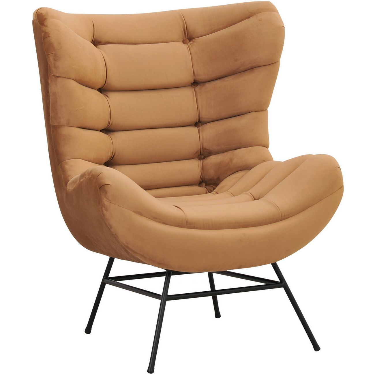 Huxley Gold Velvet Occasional Chair thumbnail