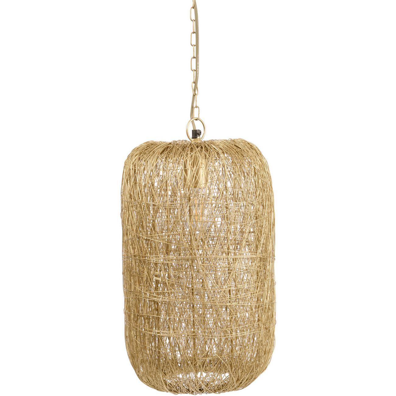 Tova Gold Woven Wire Tall Pendant Light thumbnail