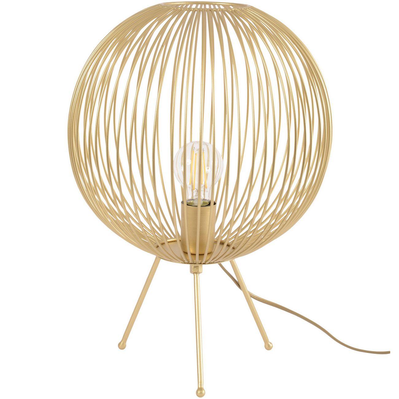 Tova Gold Spherical Tripod Table Lamp E27 40W 1 thumbnail